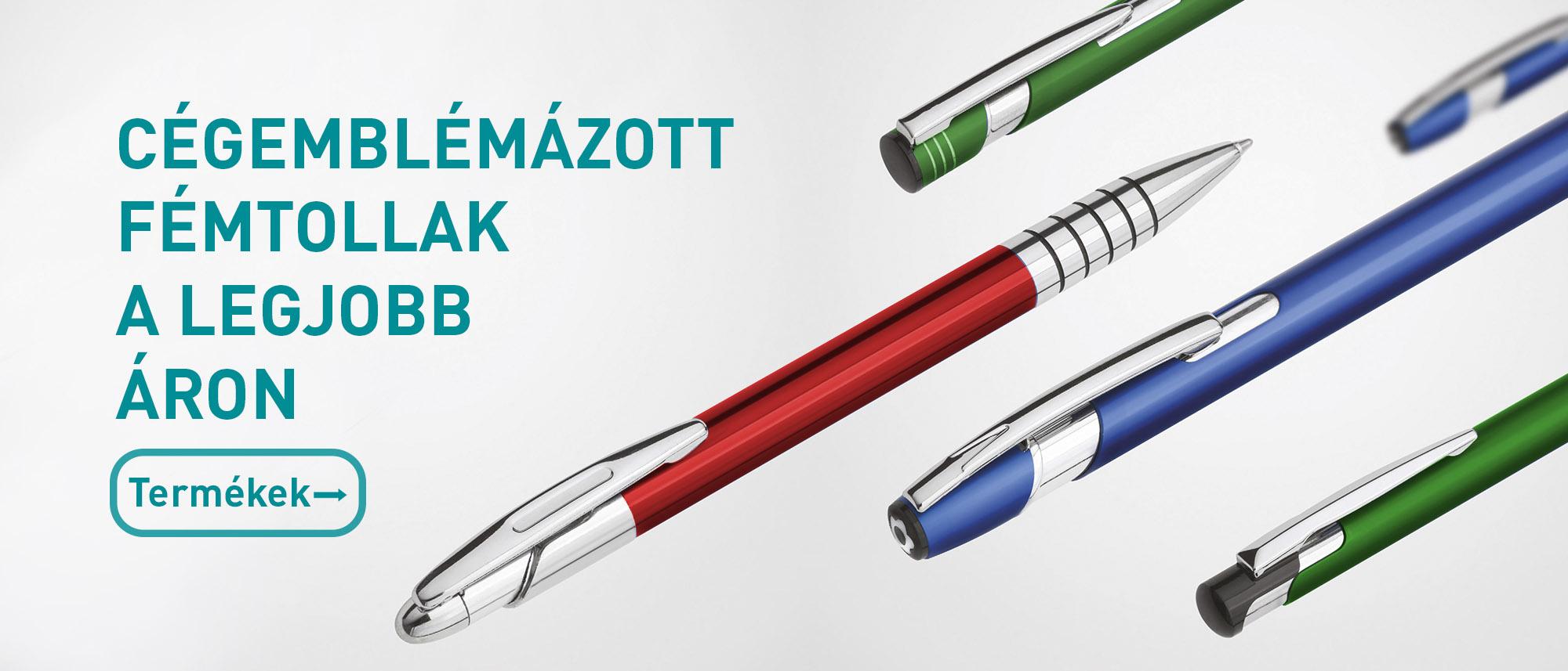 Céges fém tollak
